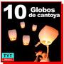 10 Pzs Globo De Cantoya Blanco Fiestas Boda Bautizo Xv Años