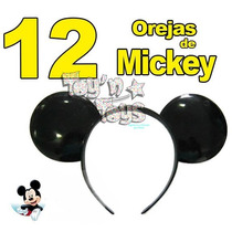 12 Diadema Oreja De Mickey Mouse Fiestas Eventos Animaciones