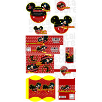 Invitaciones Infantiles Personalizadas Mickey Mouse Kit