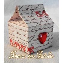 Cajas Minilecheras, Dulcero, Boda, Barra D Dulces Vbf