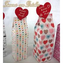 Cajas Tipo Lecheras Dulcero Chocolates San Valentin Amor 14