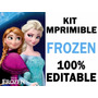 Kit De Frozen Super Imprimible Invitaciones Edición 2016