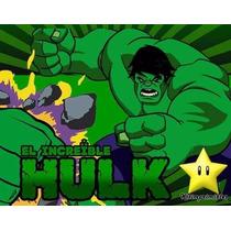 Kit Imprimible El Increible Hulk, Invitaciones Y Cajitas