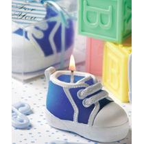 Recuerdos Para Baby Shower - Velitas Tenis Azules Y Rosas