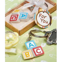 Recuerdos Para Baby Shower - Llaveros Blocks Abc De Colores