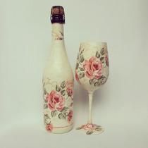 Copa Para Cumpleaños, 15 Años, Dia De La Madre Con Botella.