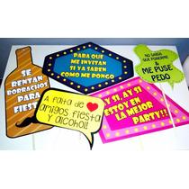 Letreros Para Fotos Fiestas Photobooth Selfies 10 X $80