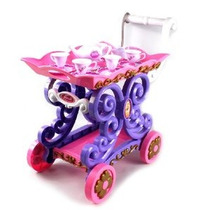 Pastel Princesa Móvil Té Cesta Toy Tea Set W / Té Cesta 4 Co