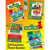 Invitaciones De Elmo 2-invitaciones Infantiles-plaza Sesamo