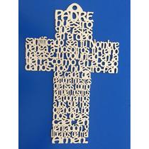 Cruz Padre Nuestro Mdf 15 Cms