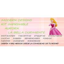 Kit Imprimible Aurora Bella Durmiente Adornos Recuerdos Y+