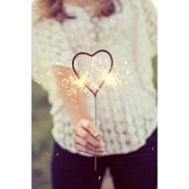 Luces De Bengala Estrella Y Corazón Personalizadas