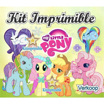 Kit Imprimible Mi Pequeño Pony My Little Ponny + Candy Bar