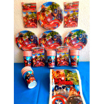 Paquete Básico Fiesta The Avengers Desechables Fiesta
