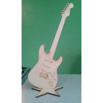 30 Figuras Guitarra Mdf Tipo Stratocaster 45 Cm Centro Mesa