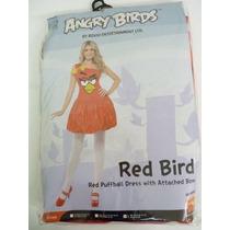 Traje De Angry Bird - Grandes Pájaros Rojos Uk 16-18 Señoras