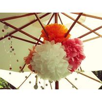 Decoración Pompones De Papel,recuerdos,fiesta,festival