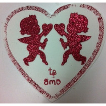 Figura De Foamy Corazon Fondo Blanco Cupido Amor Fomi
