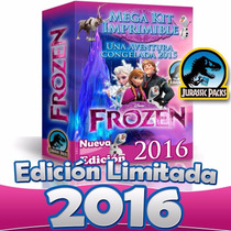 Kit Para Imprimir Frozen Editable Decoracion Fiesta Cumple