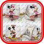 6 Globos Cubo Mickey,minnie Mouse Super Original De 30x30