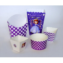 Princesa Sofía Dulceros Infantiles Cajas Cartón Vasos Mesa