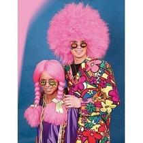 70s Traje - Grande Jumbo Neón Rosa 60s Disco Afro Wig