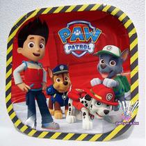 Platos Vasos Dulcero Fiesta Patrulla De Cachorros Paw Patrol