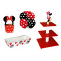 Kit Mdf Base Dulceros Mimi Roja Mesa Photobooth Cupcake Shot