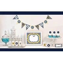 1 Juego De 95 Náutico Baby Shower Kit Decoración De Inicio