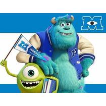 Kit Imprimible Monsters University, Invitaciones Y Cajitas