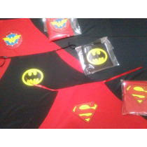 10 Capas Superheroe Souvenir,recuerdo,superman,batman,wonder