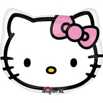 Globo Hello Kitty Paq 6 Pzas Medida 18 Pulgadas Para Helio