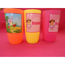 Pkt 10 Vasos Infantiles Personalizados Fiestas