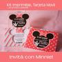 Kit Imprimible Tarjeta De Invitacion Movil Minnie Mouse