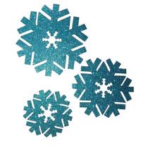 Frozen Copo De Nieve Grande Foamy Glitter Fiesta Adorno Fomy