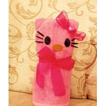 Centros De Mesa Hello Kitty Hecha Con Toalla Para Manos !!
