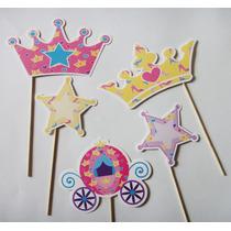 Princesas Photo Booth Props Fotos Fiesta Corona Letreros