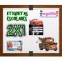 Kit Imprimible Etiquetas Escolares Cars 2x1