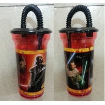 Fiesta Star Wars Vaso Plastico Con Tapa Y Popote Dulcero