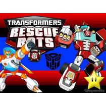Kit Transformers Rescue Bots Diseñá Tarjetas Cajas Cumples