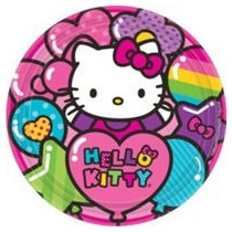 Fiesta De Hello Kitty Platos, Vasos, Servilletas, Etc