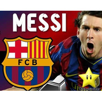 Invitaciones Barcelona Messi Diseñá Tarjetas, Cumples