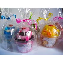 10 Recuerdos Personalizado Cupcake Paleta En Toalla Y Plumas