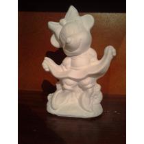 Alcancia Yeso Ceramico Blanca Para Pintar, Minnie Paq. 12 Pz