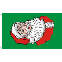 Decoración De Navidad - Navidad De Santa Cara 5ftx 3ft Band