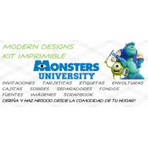 Kit Imprimible Monsters University Adornos Invitaciones Y+