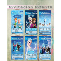 Invitación Tipo Ticketmaster Frozen