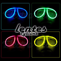 Lentes Glow Fluorescentes Neon Cyalume Fiesta Eventos