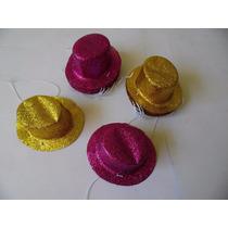 Sombreritos Para Fiesta Mini Bombin Con Brillo Paq. 10 Pzas