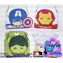10 Cajas Lonchera Avengers, Iron Man, Capitan America, Hulk